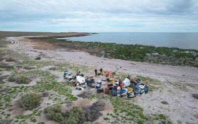 Se recolectaron cinco toneladas de residuos plásticos en la Isla Tovita de Camarones