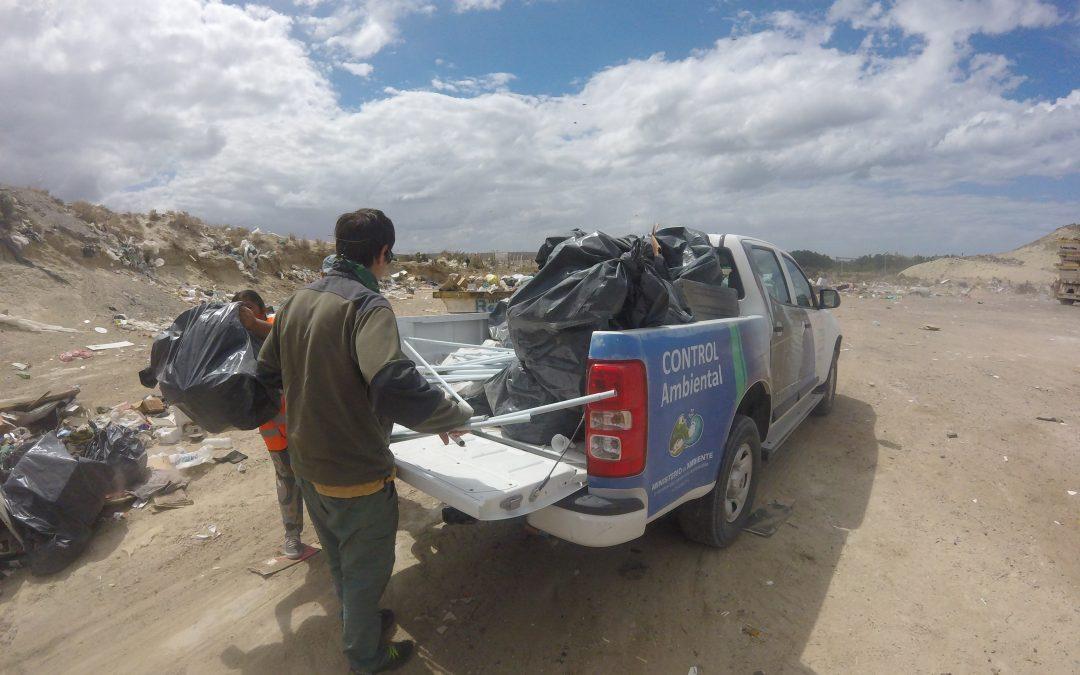 Intervención en el litoral costero, zona Rada Tilly