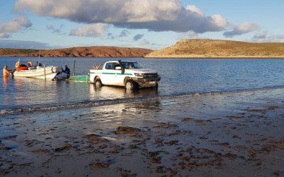 Ambiente participó de censo costero de residuos en islas frente a Camarones