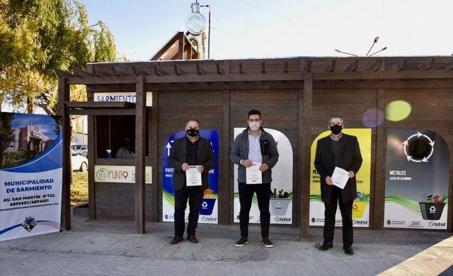 Provincia inauguró en Sarmiento el primer Ecopunto sustentable para recuperación de residuos reciclables
